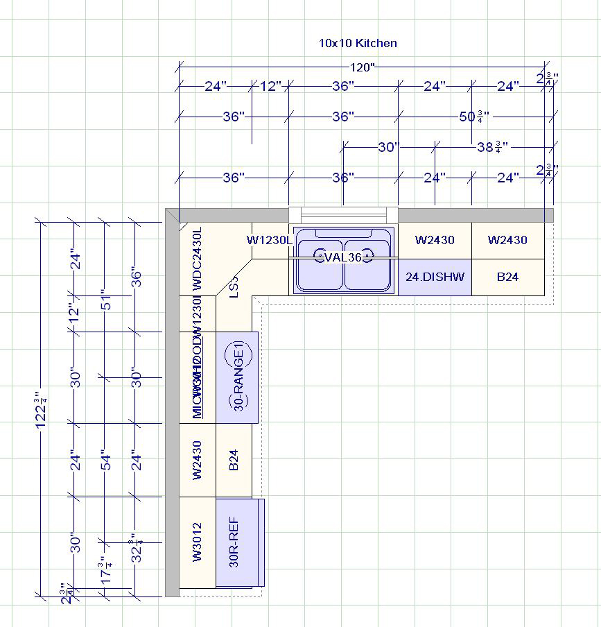 kitchen cabinets measurement design layout page