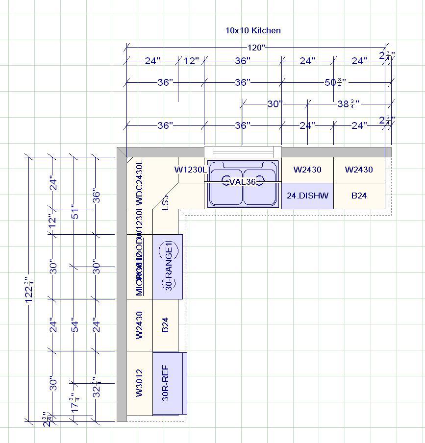 kitchen cabinets measurement design layout page