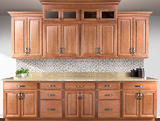 orange brown custom kitchen cabinets brentwood style