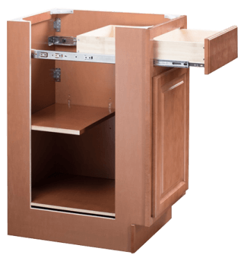 brentwood light brown wood cabinet with drawer