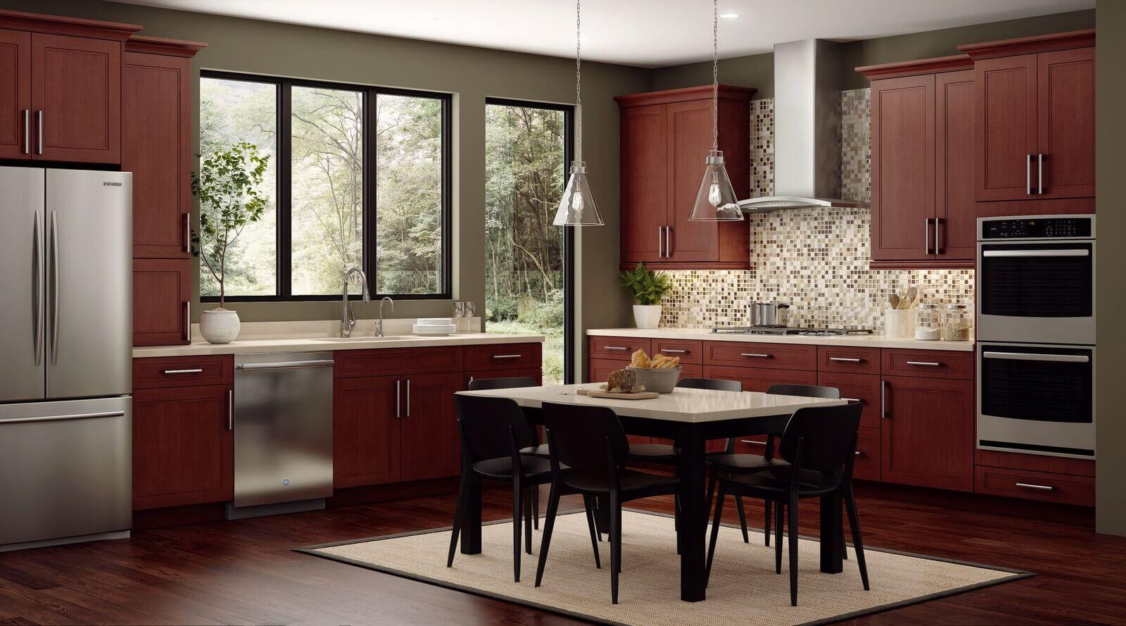 deep brown custom kitchen cabinets