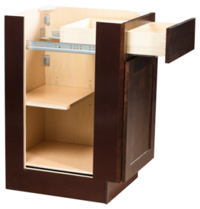 espresso brown dark cabinet with drawer