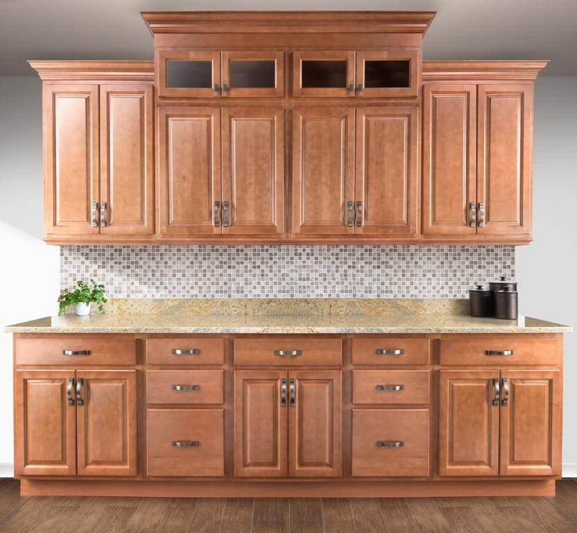 brentwood light brown kitchen custom cabinets and cupboards