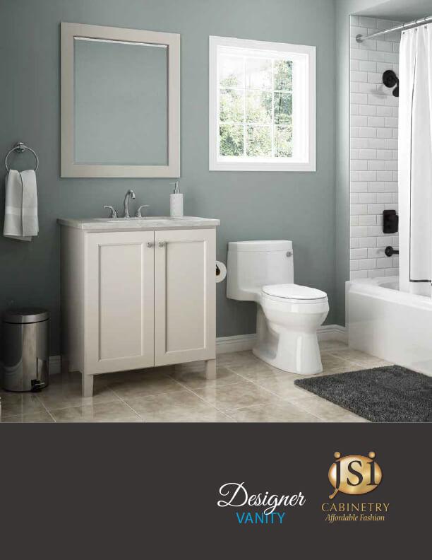 2017 JSI Premier Craftsman Brochure Fall River white bathroom vanity