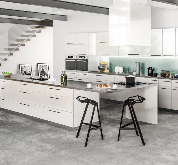 milano white chic kitchen